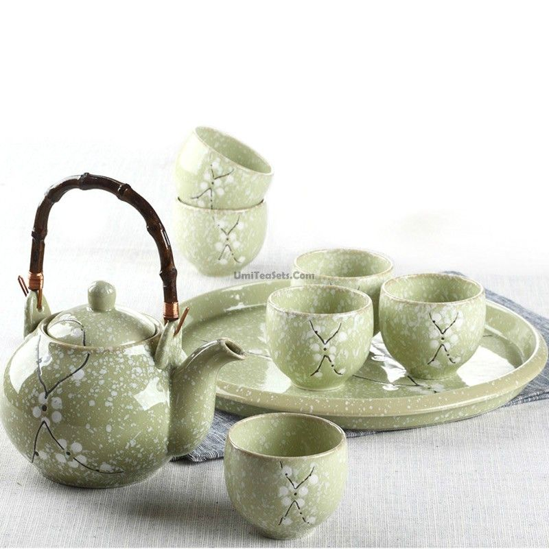 Japanese Plum Tea Set With Tray #teasets