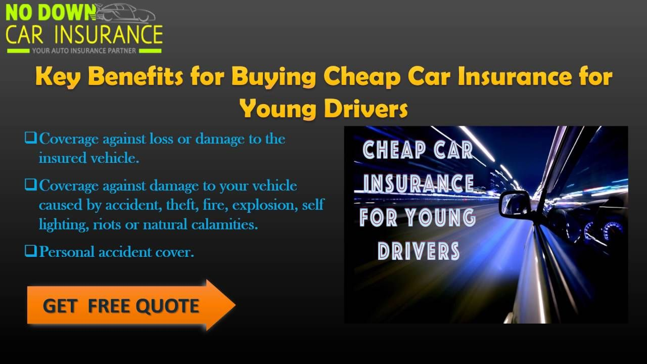 Being A Young Driver Will Automatically Set The Alarm Bells And Increase Your Insurance Quotes The Most Important Aspect Id To Find The Correct Cover And Get T
