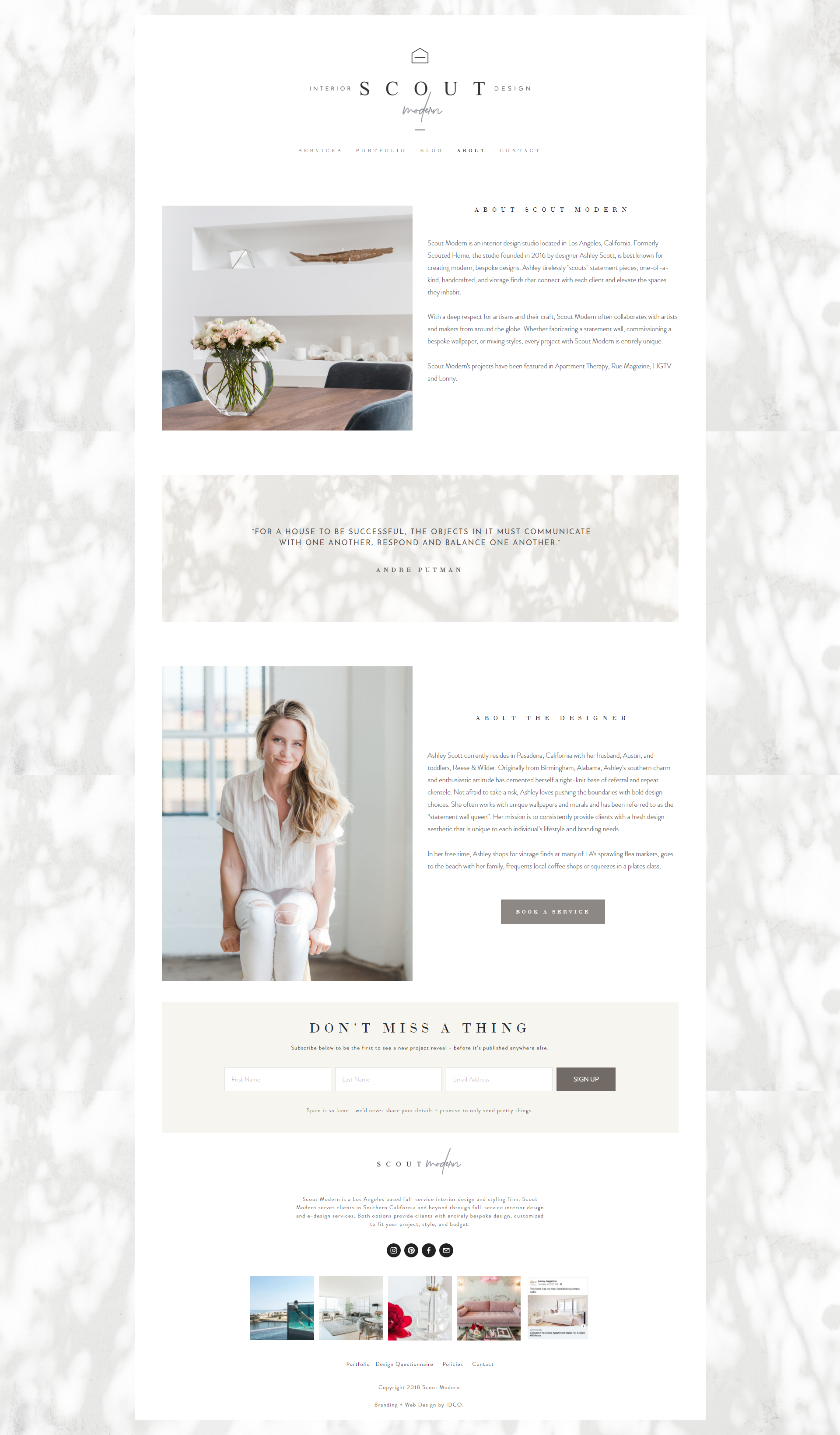 The Identite Collective Branding Web Design And Content Creation For Interior Designe Interior Design Website Portfolio Website Design Modern Website Design