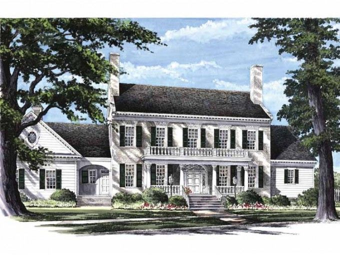 Federal Style House Plans federal style, love the breezeway attaching the garage to the