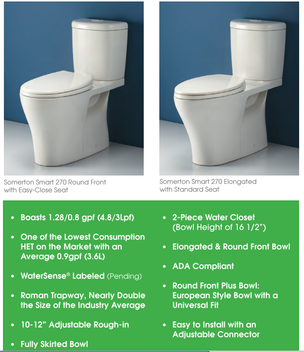 The Somerton 270 High Efficiency Toilet By Caroma Bathroom Fixtures Somerton Water Closet