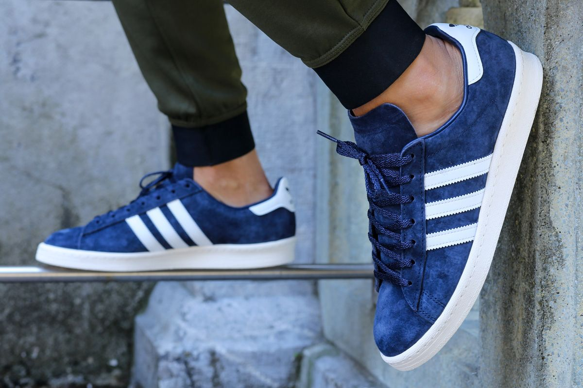 adidas blue campus 80s sneakers