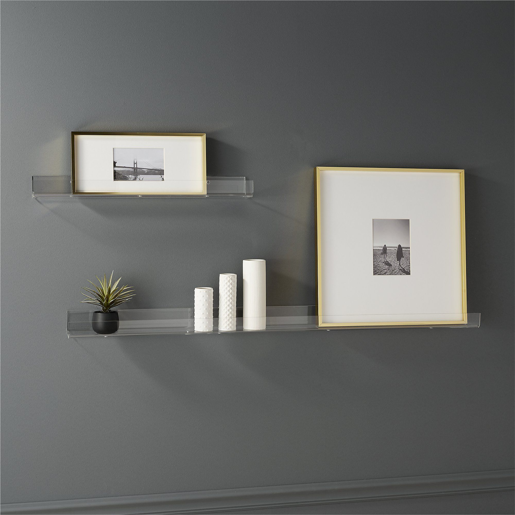 Acrylic Wall Shelf 48 - Cb2