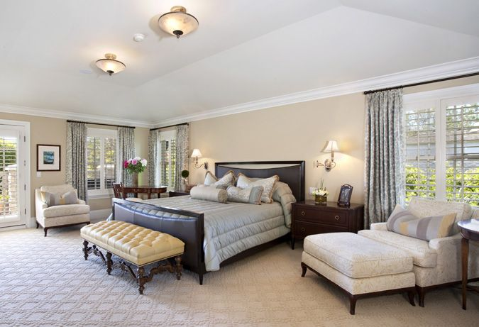 Transitional Bedroom Designed By Von Hemert Interiors.
