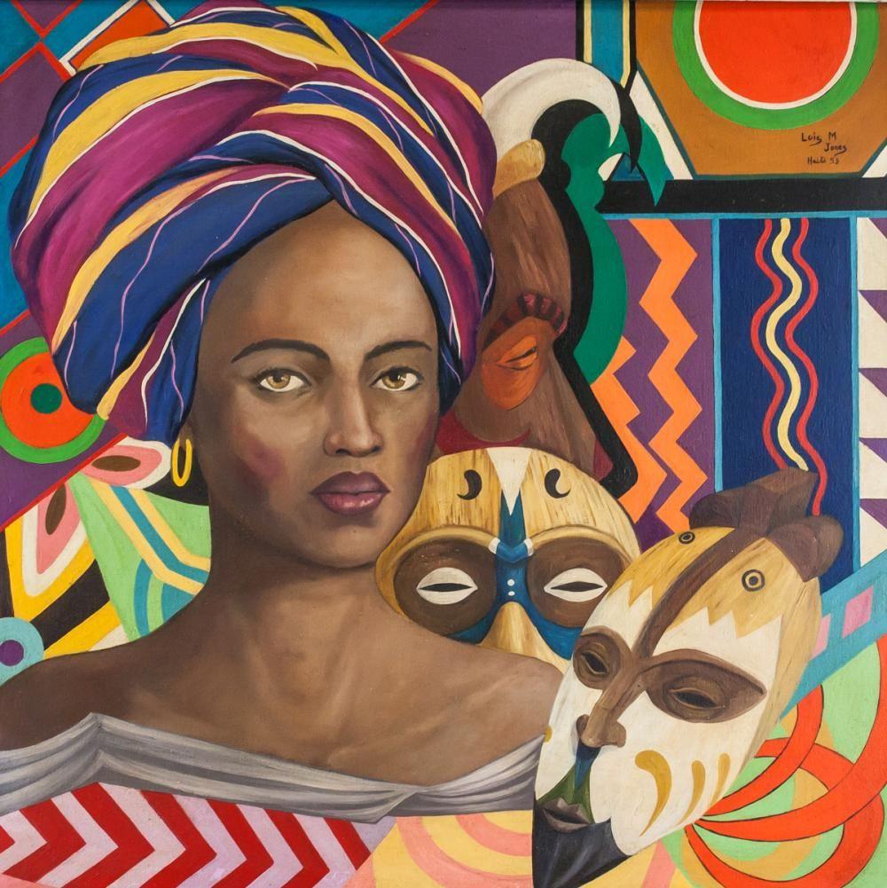 Lois Mailou Jones Harlem Renaissance Oil on Canvas (With