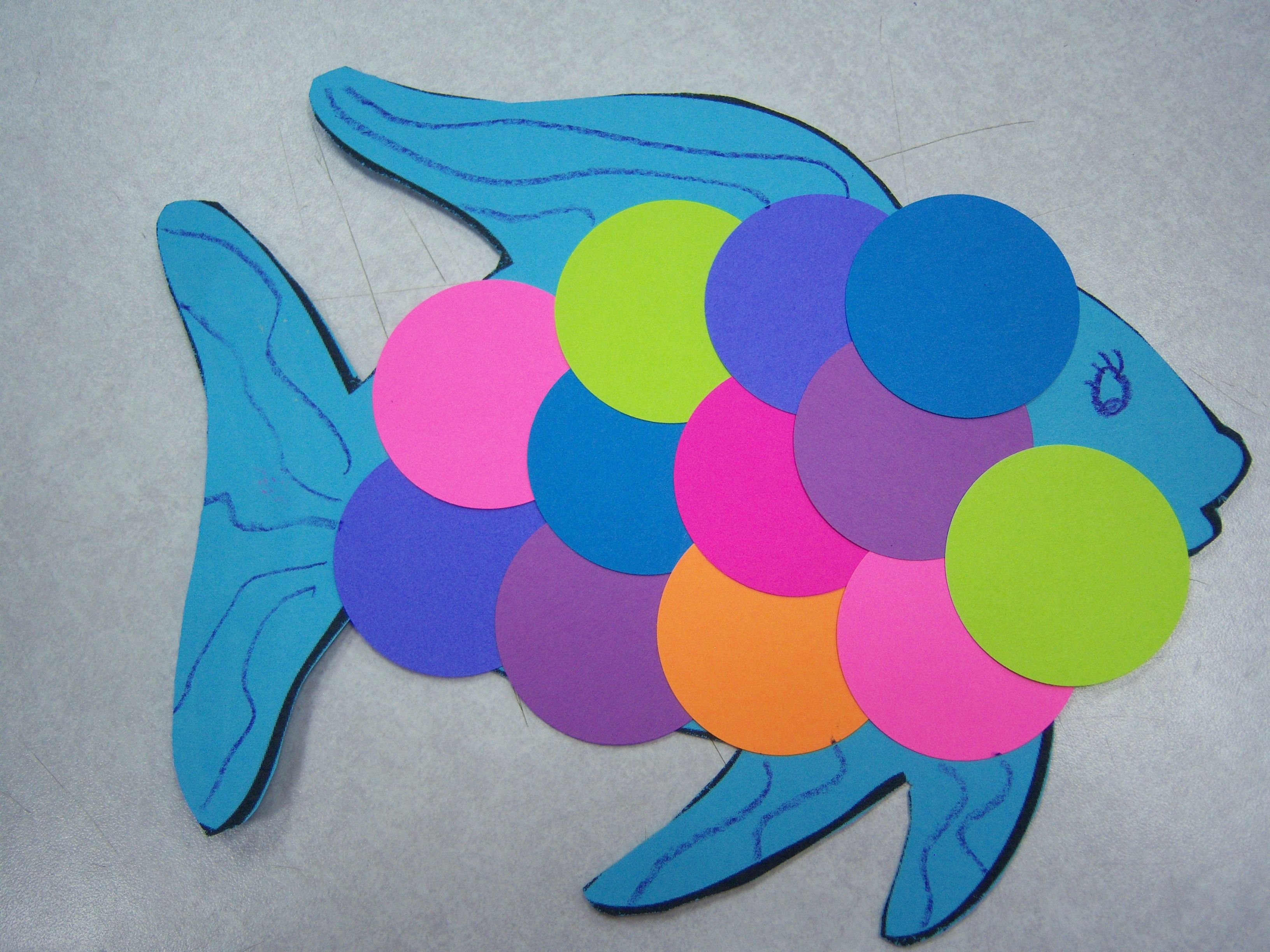 Peix de colors projecte els peixos pinterest scale for Fish crafts for preschoolers