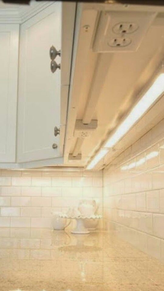 Install Outlets Under Cabinets To Avoid Ruining The Tile Back Splash Kitchen Outlets Kitchen Remodeling Projects Simple House