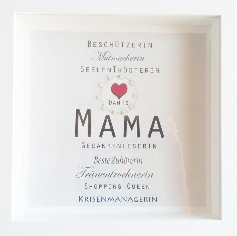 Weihnachtsgeschenk Bild Mama Mama Beste Mama Danke Mama