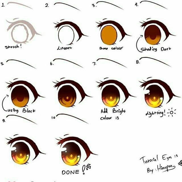 Yo Aprendiendo A Bailar Anime Art Tutorial Anime Eye Drawing Digital Art Tutorial