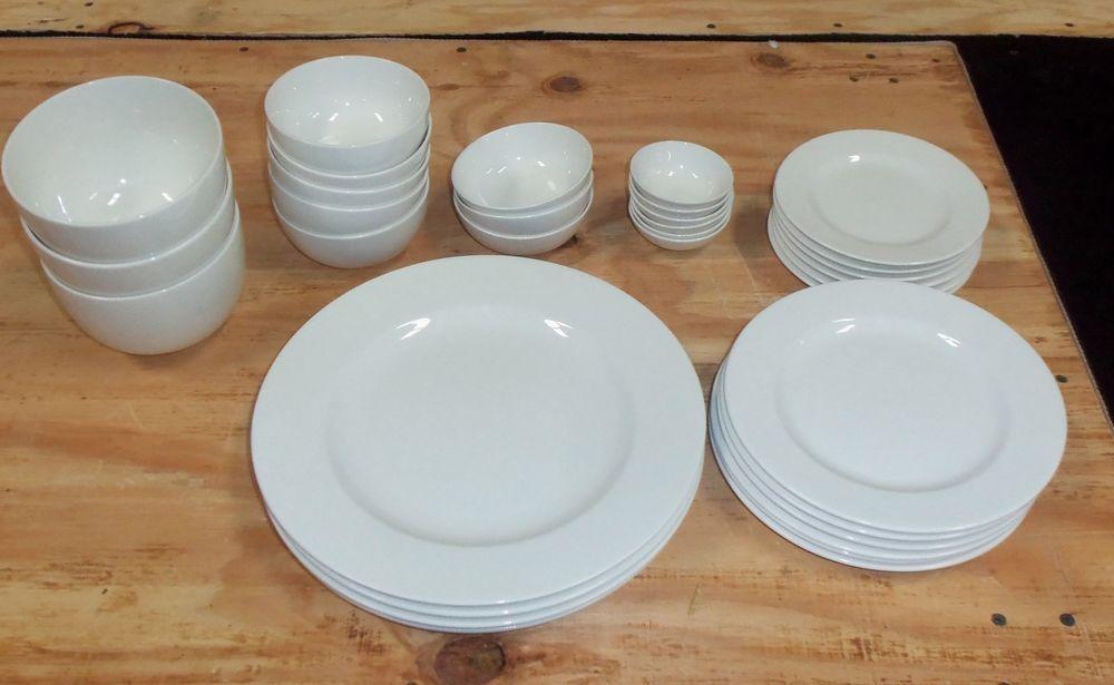 White Elements Dinnerware Round 34 Piece Set - 85081017352 & White Elements Dinnerware Round 34 Piece Set - 85081017352 ...