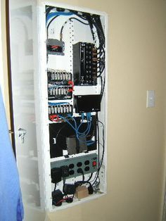 Whole House Structured Wiring Networking Set Ups Cabinets Home Panel Cabinet