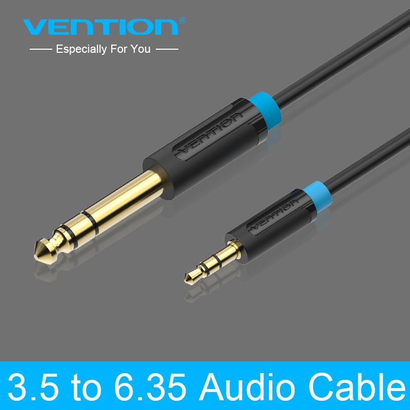 Vention 3 5mm To 6 35mm Adapter Jack Audio Cable For Mixer Amplifier Male To Male 0 5m 1m 1 5m 2m 3m 5m 8m 10m Aux Cabo Power Amplifiers Audio Cable Jack Audio