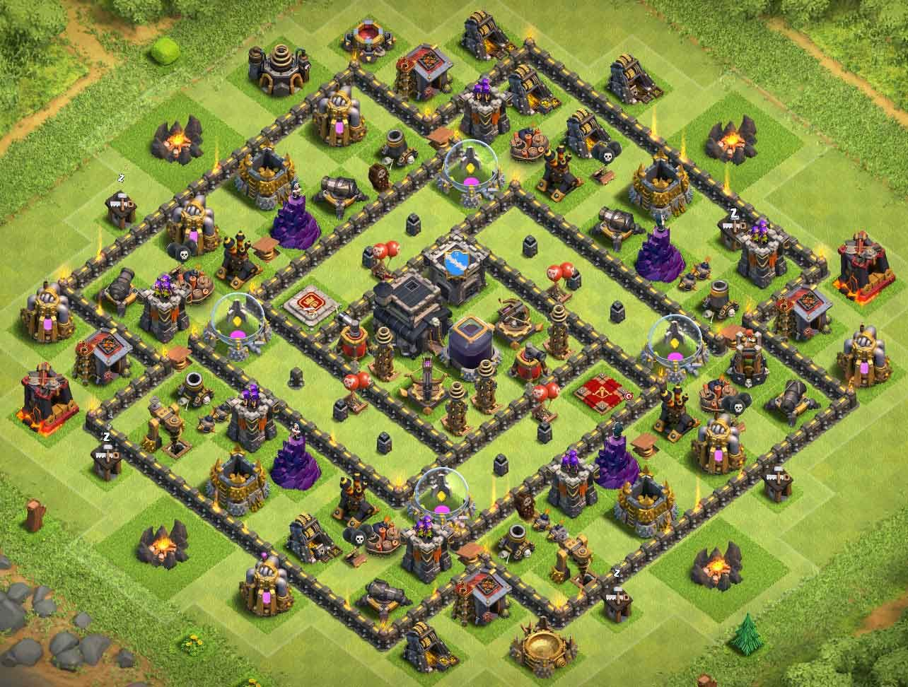 Best Th9 Dark Elixir Farming Base 2019 Base Coc Th 9 6