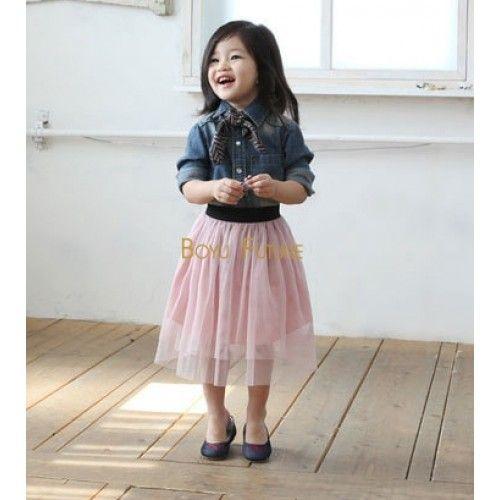 c223e9c1a Girls Toddler Long Tulle Skirt | Kids Style | Tulle skirt kids, Kids ...