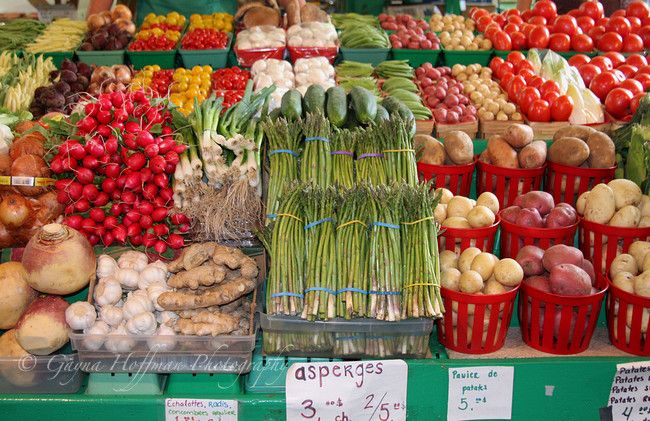 Large Variety Of Vegetables In Fresh Produce Display At Farmers