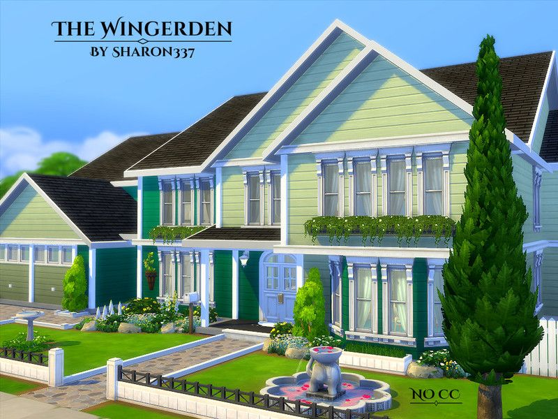 The Wingerden Is A Family Home Built On A 40 X 30 Lot In Newcrest On The Optimist 39 S Outlook Lot F Sims 4 House Building Sims Building Sims 4 House Design