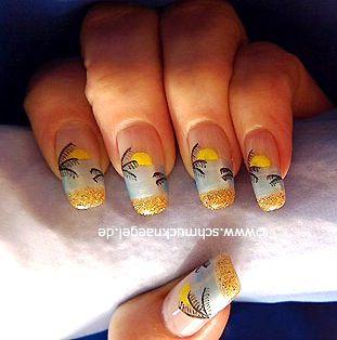 summer beach nail art design  fingernail  toenail art