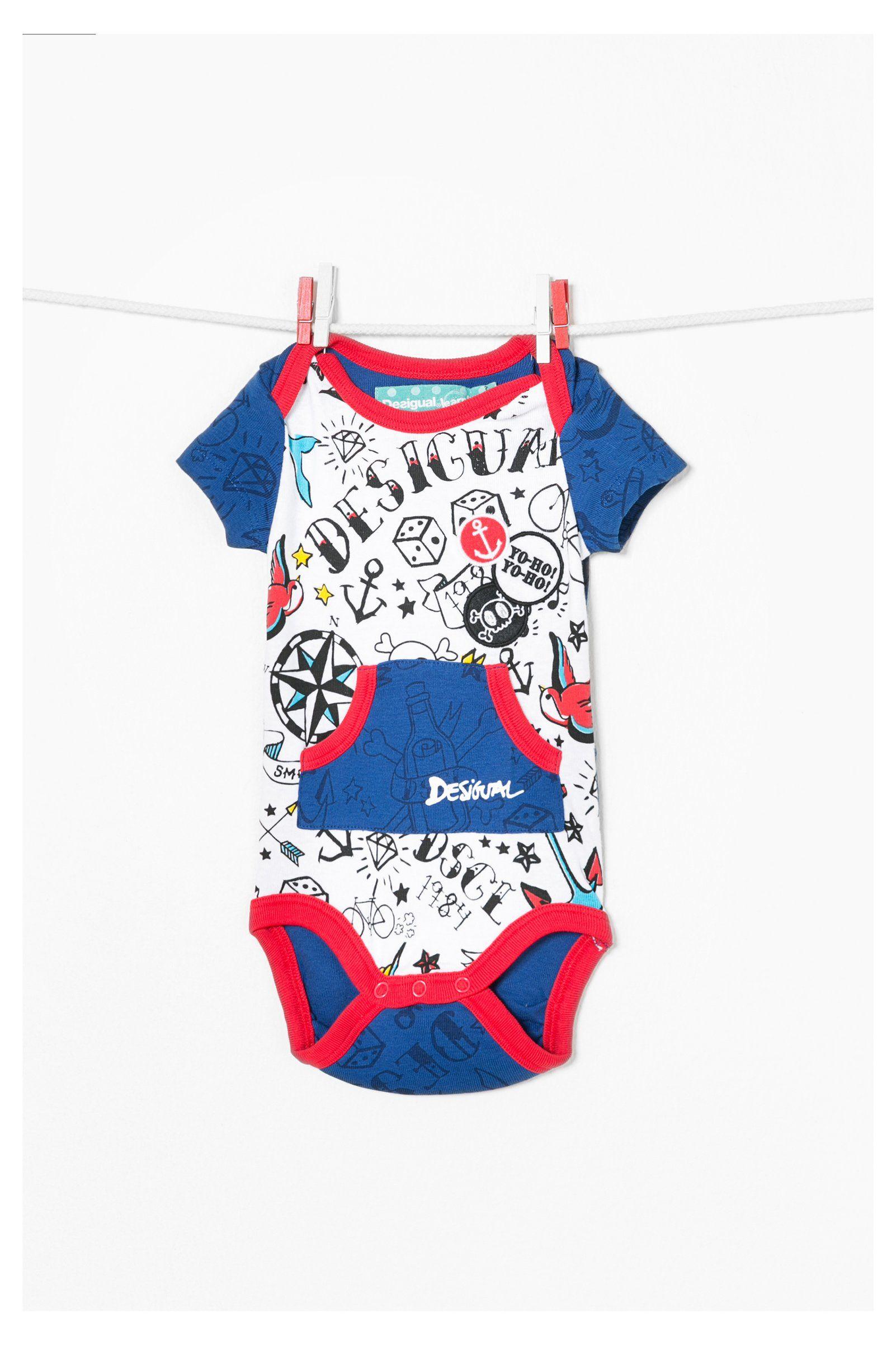 Body de bebé azul Desigual. ¡Descubre la colección de niño más cañera!