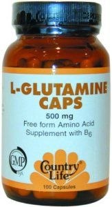 L-Glutamine Caps 500mg 100 Capsules by Country Life. $11.64. 100 Capsules. Suitable for Vegetarians. Kosher. 100 Servings Per Container. Serving Size: 1. Free Form Amino Acid with B-6Vegetarian/KosherA non-essential amino acid (Glutamic Acid) that is found in abundance in muscles. B-6 aids in the utilization of Glutamine.**