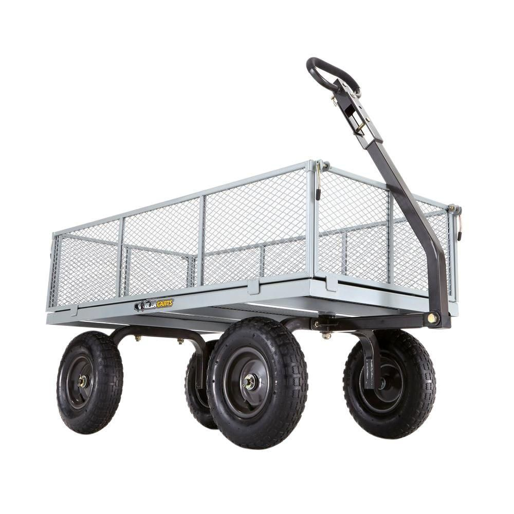 Gorilla Carts 1 000 Lb Heavy Duty Steel Utility Cart Gor1001 Com