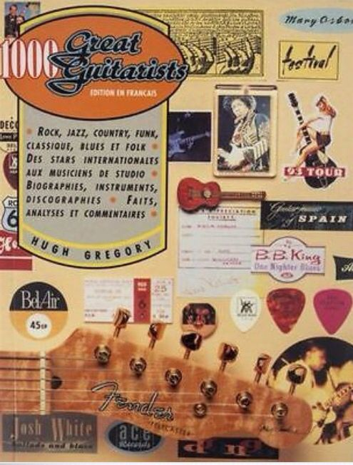 1000 Great Guitarists By Hugh Gregory Guitar Books Music History Vintage Guitars