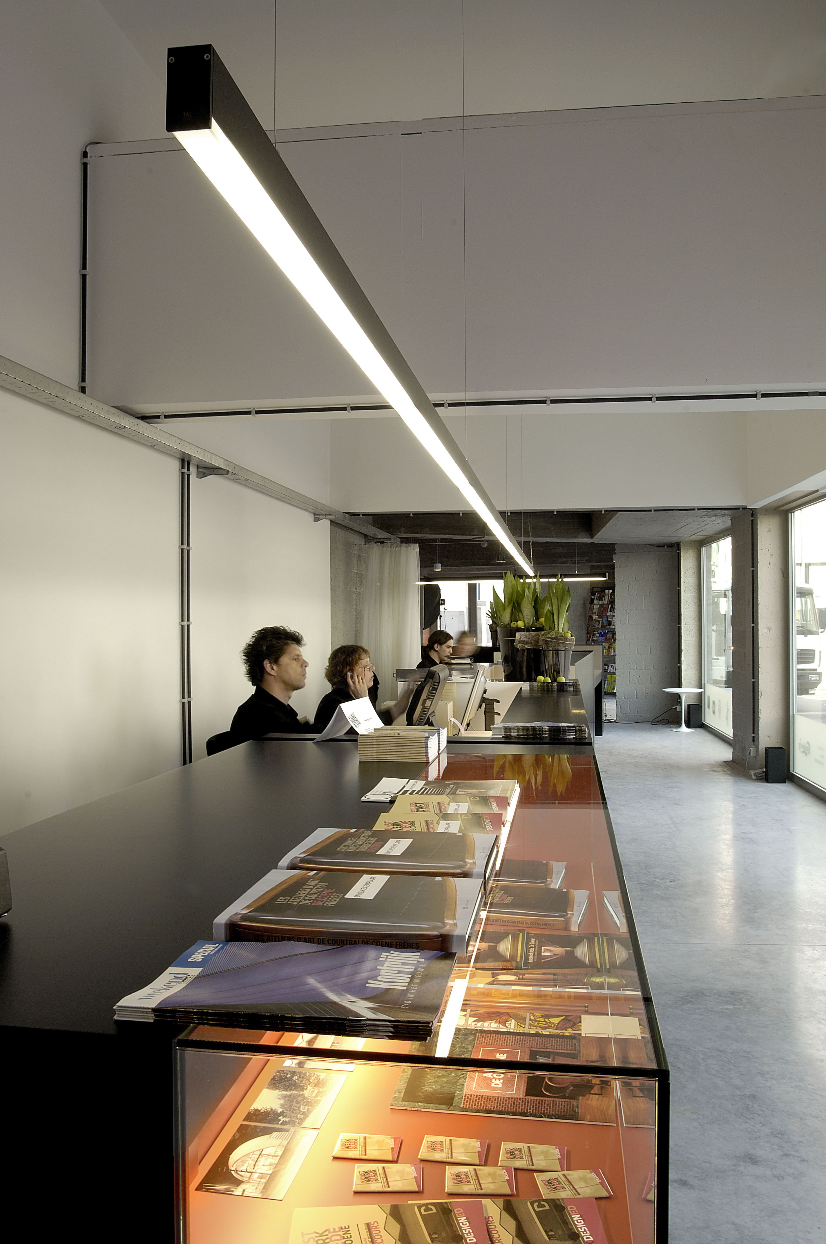 suspended office lighting. 2u profile system in textured black suspended lighting fixture general the office