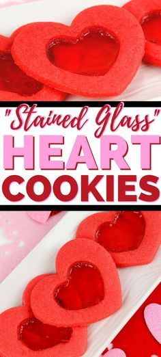 A beautiful stained glass cookie recipe for Valentine's Day. These tasty heart cookies feature a see-through candy center making a perfect Valentine's Day treat! #ValentinesDay #CookieRecipes #ValentinesDayRecipes #ValentinesDayParty #ValentinesDayFood #ValentinesDayTreats #hurricanefoodideas