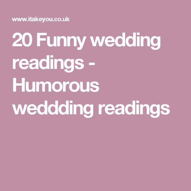 20 Funny Wedding Readings That'll Make You Smile & Laugh