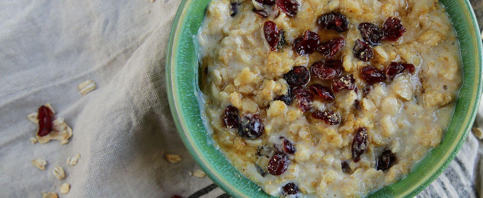 Creamy maple cranberry oatmeal recipe oatmeal oatmeal