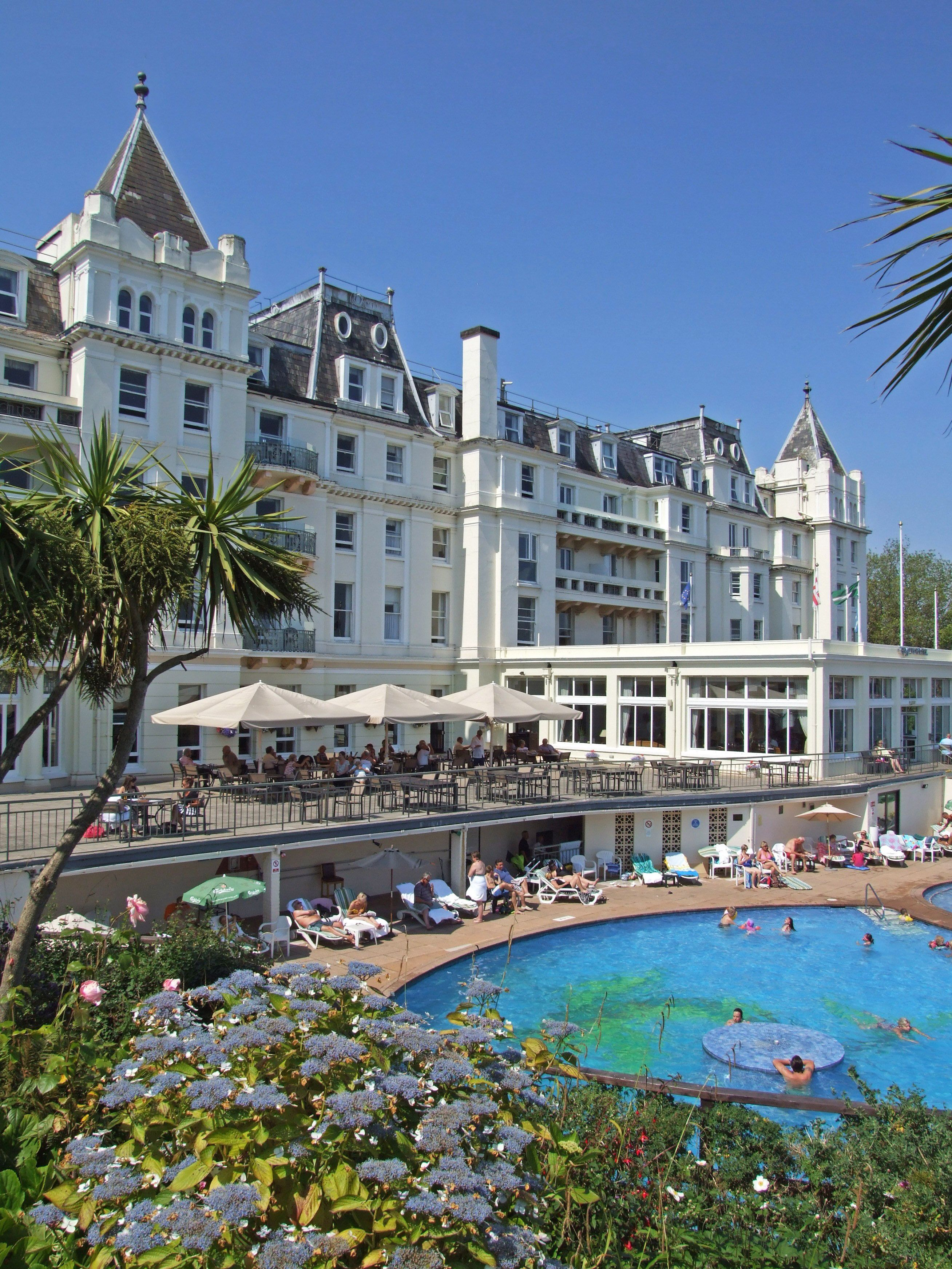 The Grand Hotel In Torquay Outdoor Heated Swimming Pool Have A
