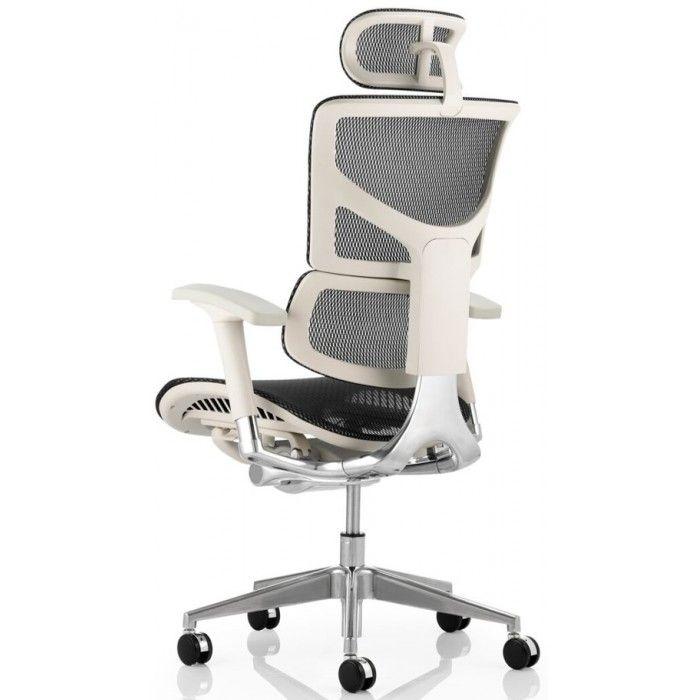 white frame office chair. Ergo Dynamic Black Mesh Posture Chair With White Frame Office