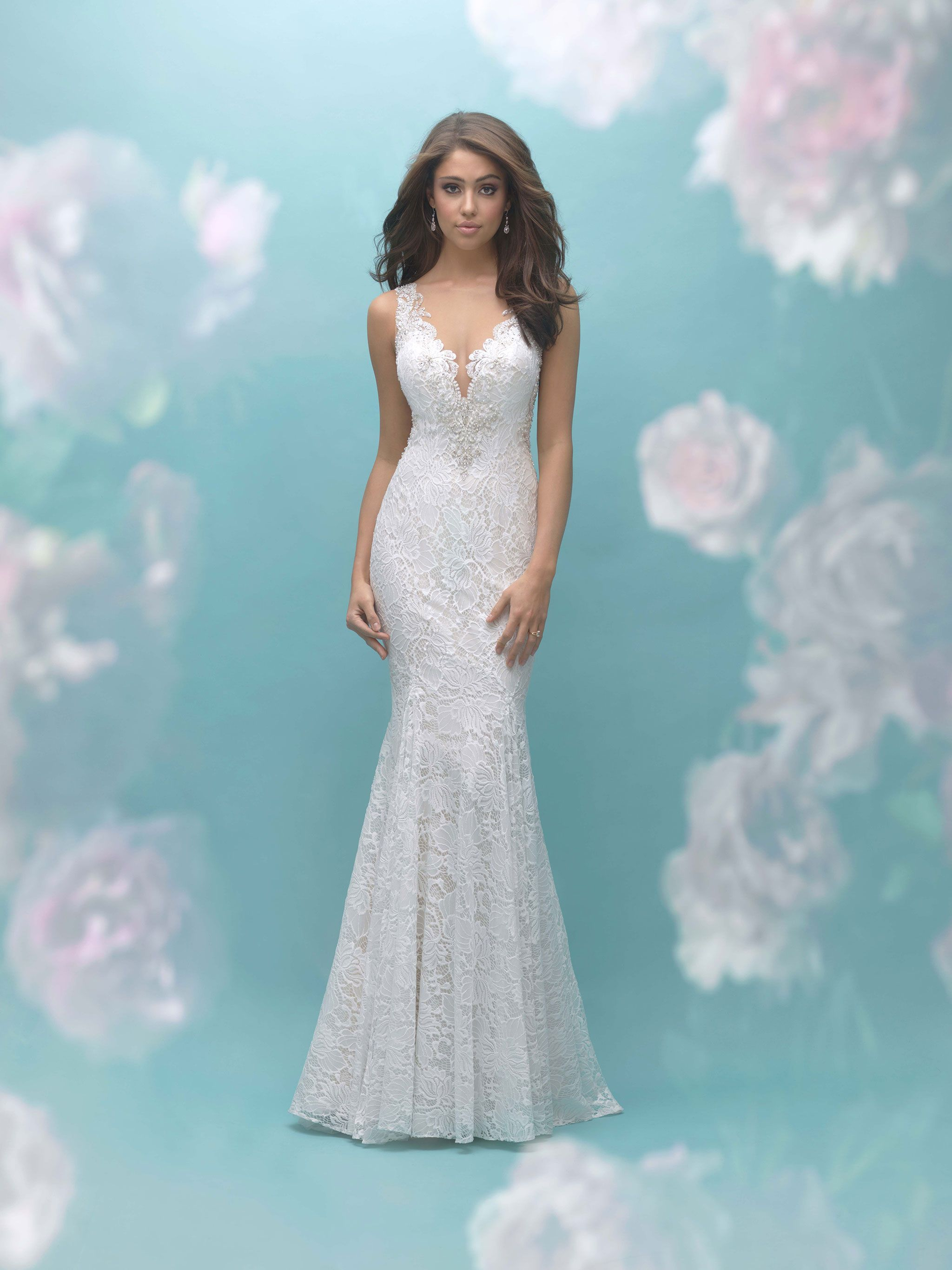 Allure Bridals 9460 Ivory/Latte/Nude Size 12 | Webster-Bridal Gowns ...