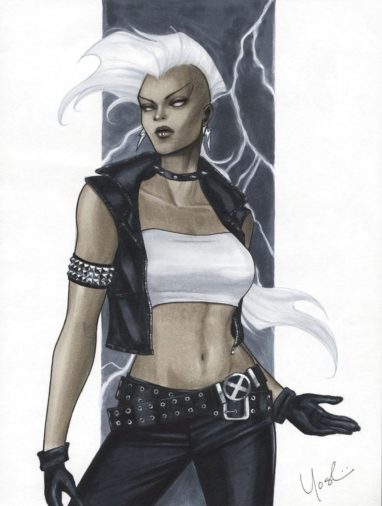 Anime Style Ish Sketch Of Mohawk Storm