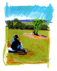 Art in the Woolshed. Andrew thinking about work-smaller.png (200×249)