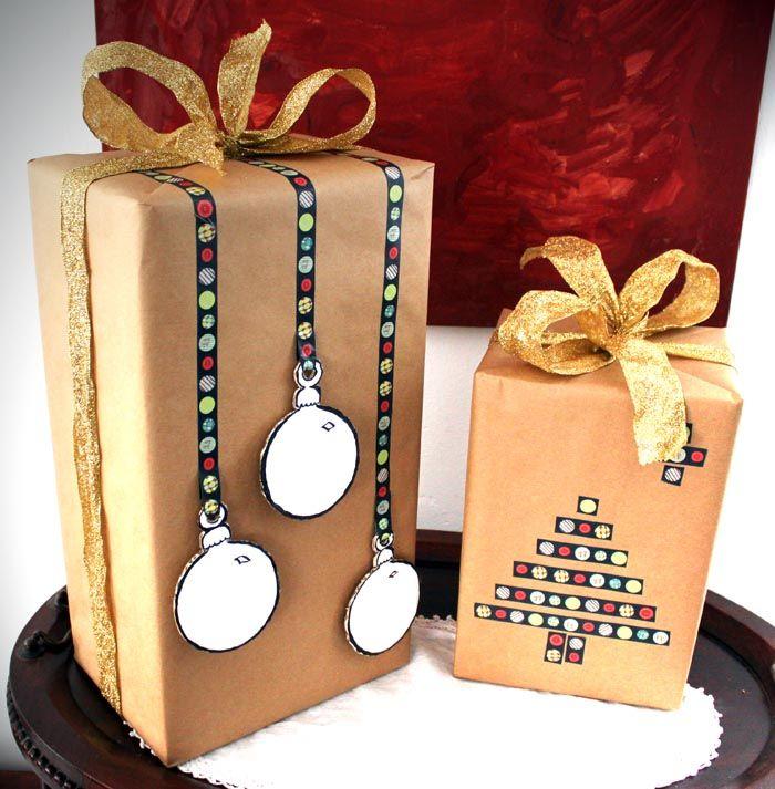 envoltorios de navidad con washi tape ideas para decorar el cole regalos de navidad