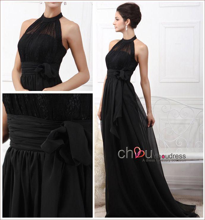 Vestido negro de fiesta accesorios