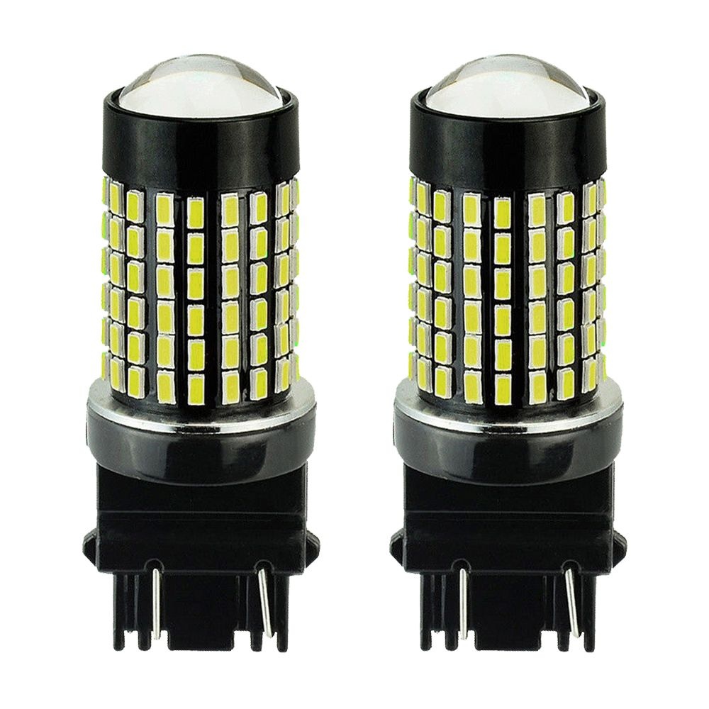 3157 T20 Led Light Bulb Muhize Super Bright 7000k White Dc 12v 24v 144smd With Projector 2018 New Design Replacement 3056 3156 3057 Lamp For Reverse Brake