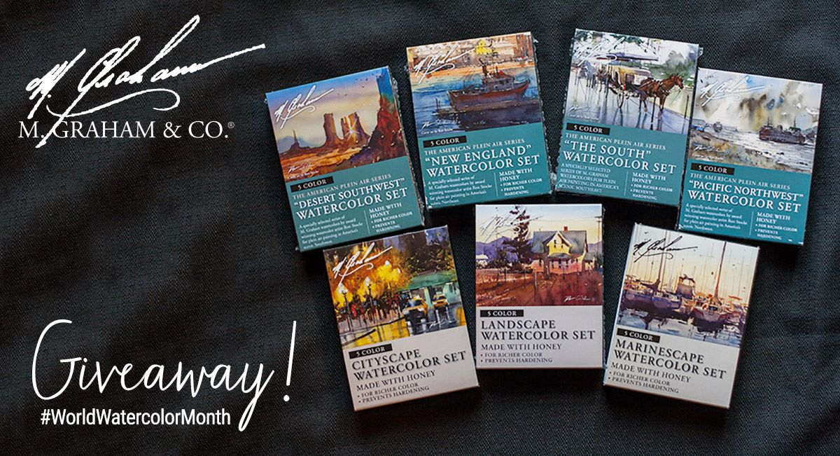 M Graham World Watercolor Month Giveaway! Art and Inspiration in