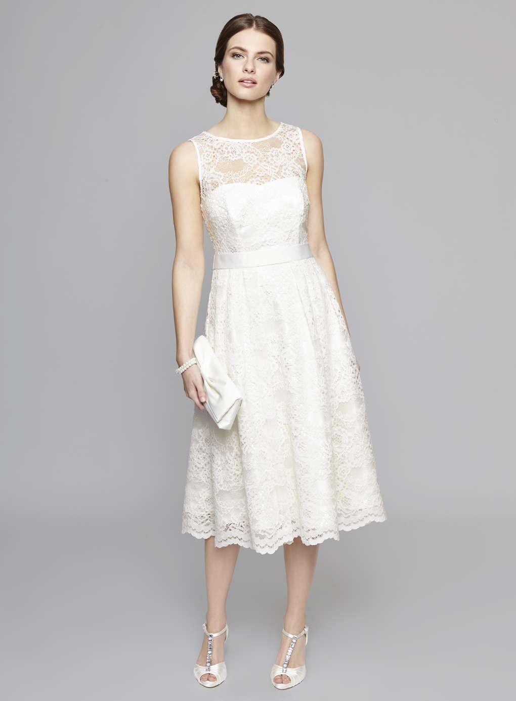 BHS GBP150 Ivory Charlotte Lace Wedding Dress