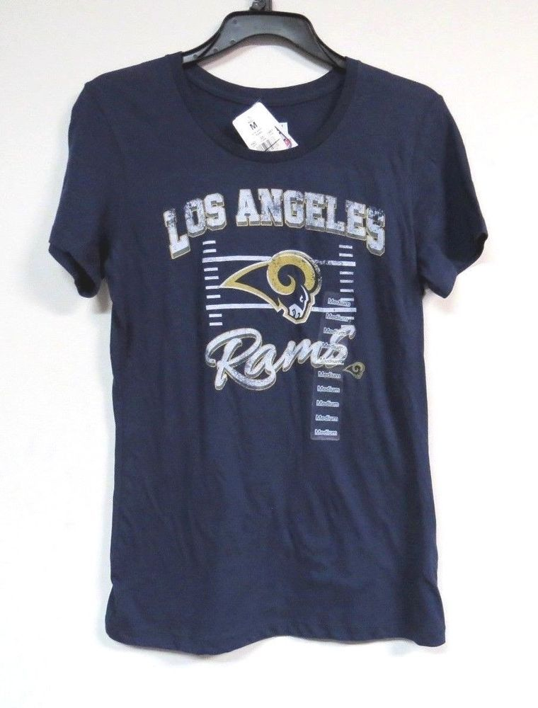 super popular b8ec2 0c2aa NWT Los Angeles Rams T Shirt Women's SIZE M (36 CHEST ...