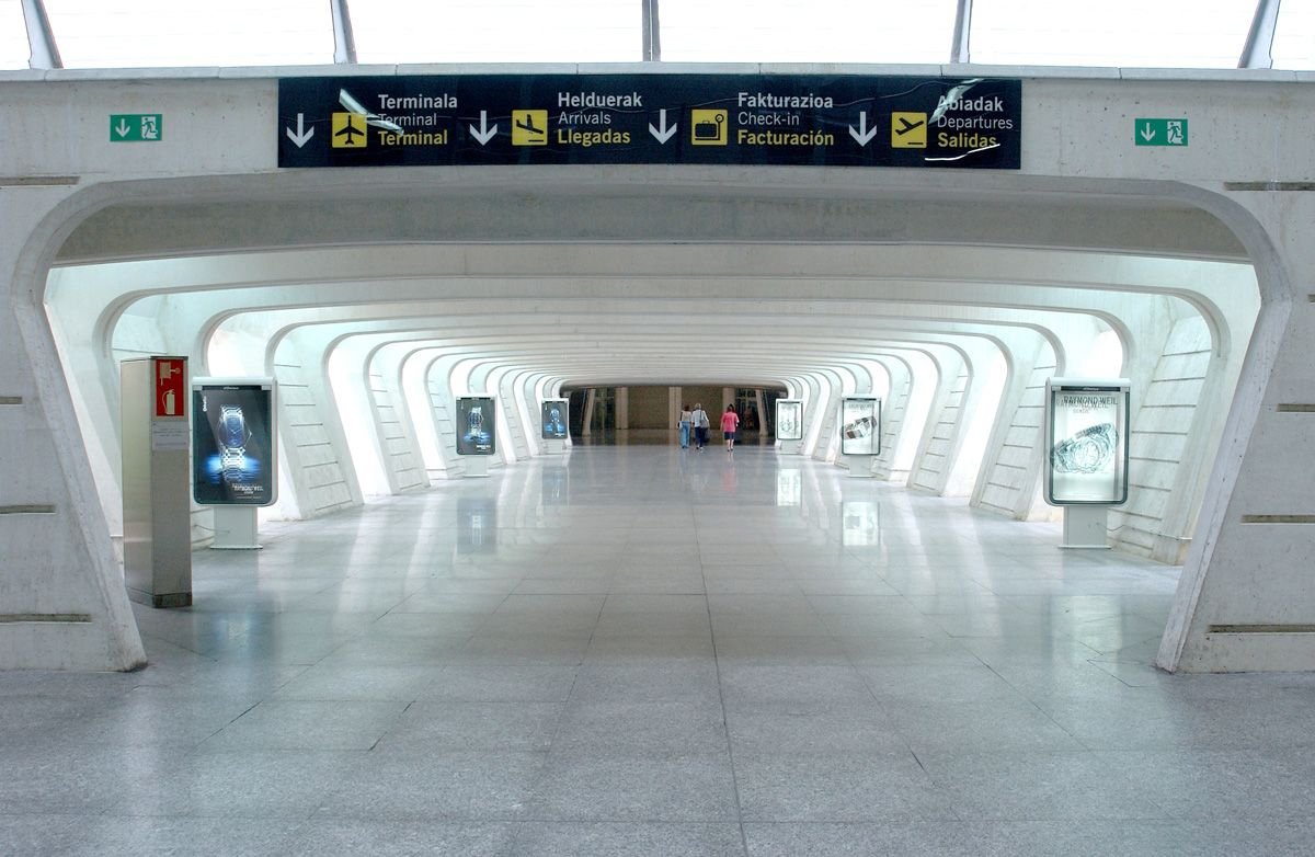Aeropuerto De Bilbao Bio Airport Bilbao White Concrete