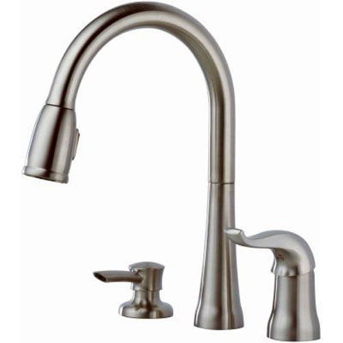 Delta 16970 Sssd Dst Single Handle Pull Down Kitchen Faucet With