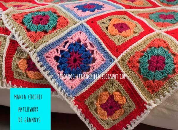 La mejor manta crochet: fácil, abrigada y creativa - paso a paso ...