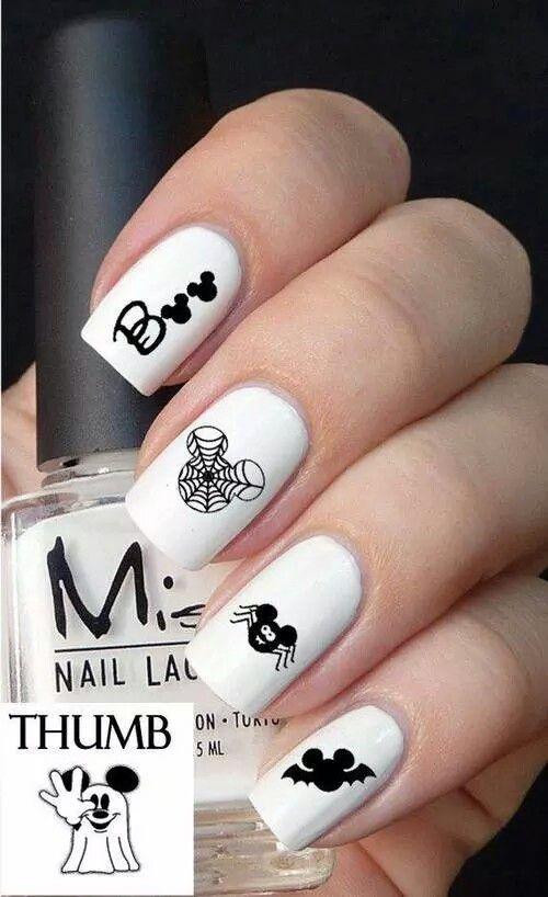 Mickey Boo   Mickey   Pinterest   Diseños de uñas
