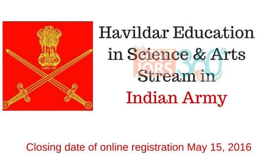 Havildar Education in Science & Arts Stream in Indian Army