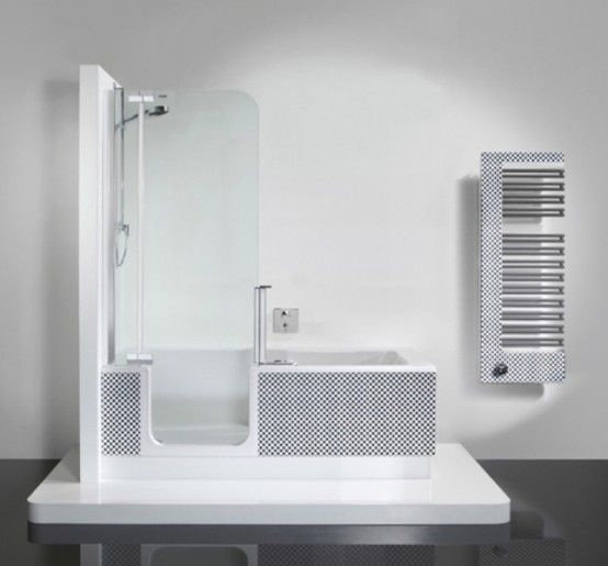 Beautiful Bathtub And Shower In One Unit