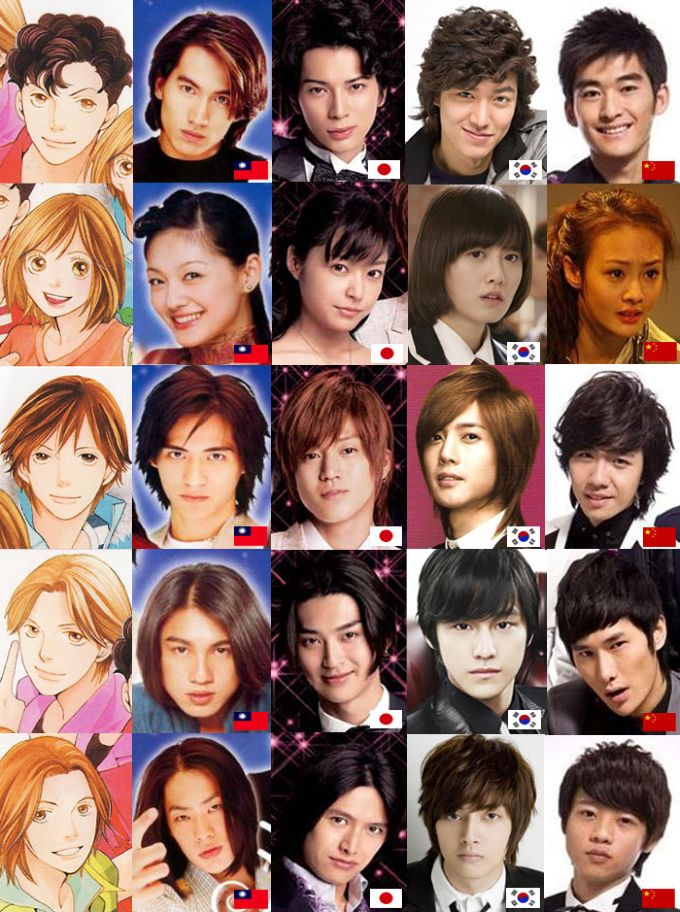 Cast members for Boys Over Flowers from different