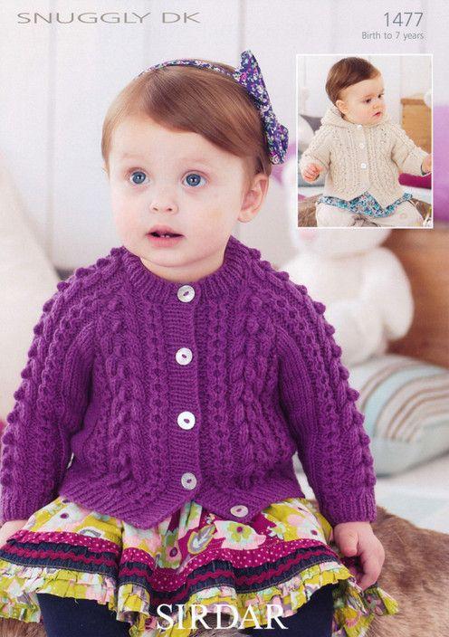 Sirdar--Girls\' Cardigans (birth - age 7)   Child Knitting Patterns ...