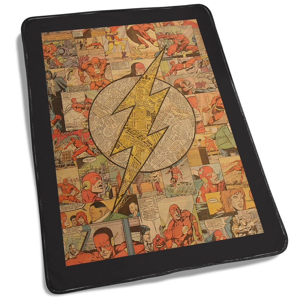 Flash Superhero Logo DC Comics Collage Blanket | Ideas for the House ...
