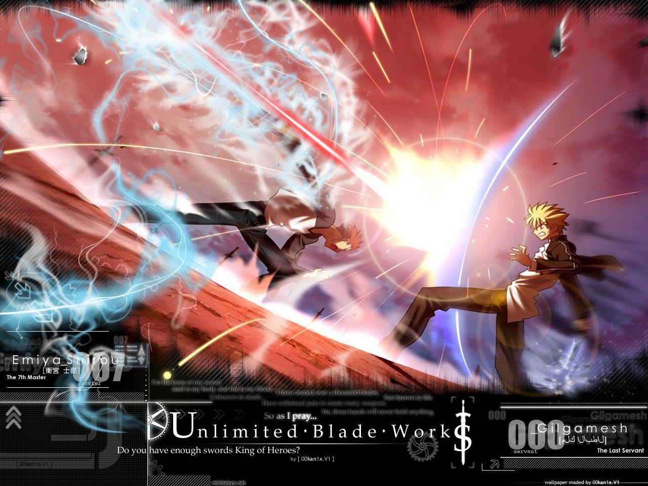 Anime Fate Stay Night Unlimited Blade Works Archer Gilgamesh Shirou Emiya Wallpaper Fate Stay Night Stay Night Fate
